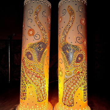 Luminária Elefante Indiano - Decoração de casa