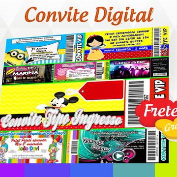 Convite Digital Tipo Ingresso