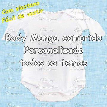 Body Manga longa Personalizado