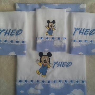 Kit Fralda Mickey 4 itens