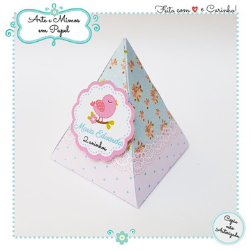 Caixa Mini Pirâmide 3D Jardim