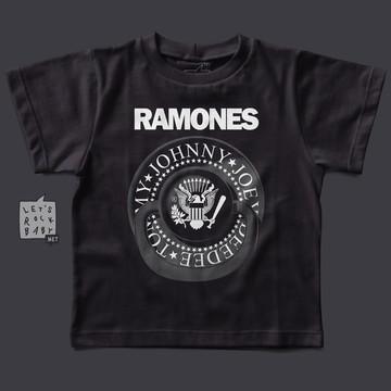 f32c8fdc6845d Camiseta infantil Rock - Ramones - Preto