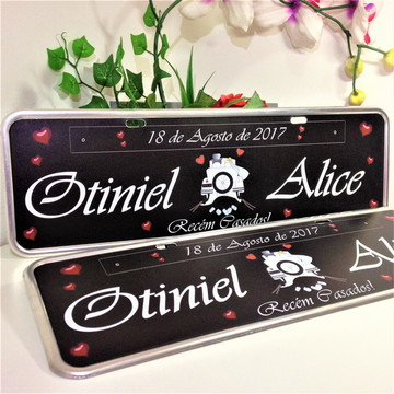 kit 02 placas de carro personalizadas