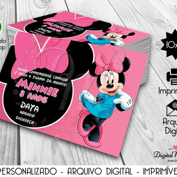 Convite Digital Tema Minnie