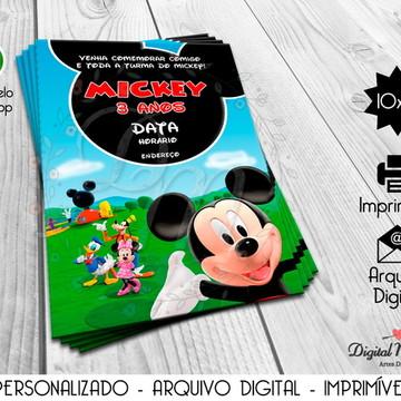 Convite Digital Tema Mickey