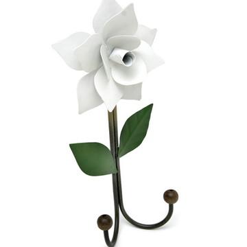 Cabidinho Artesanal de Ferro com Florzinha Rustico de Parede