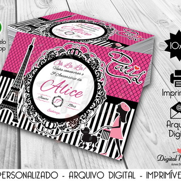 Convite Digital Tema Paris