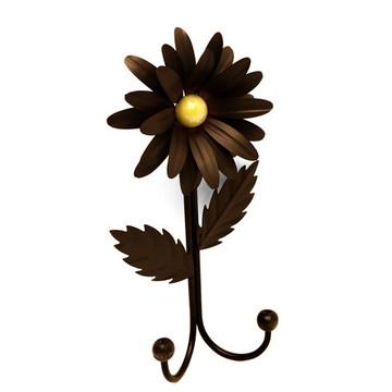 Cabide Lindo com Flor Artesanal Rústico 2 G Flor Envelhecido