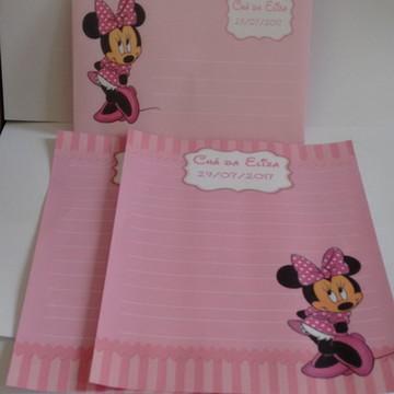 Papel de Carta Minnie Rosa