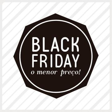 Adesivo de Vitrine Black Friday Preço