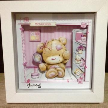 Quadro em Arte Francesa - Ursa Rosa