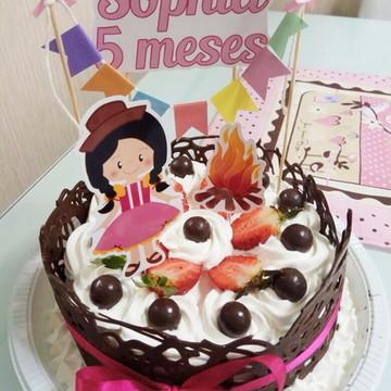 Topo de bolo - Festa Junina