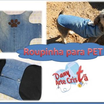Moldes e projeto Roupinha para Pet