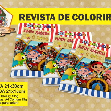 Revista Para Colorir JAKE E OS PIRATAS
