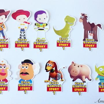 Apliques para tubetes - Toy Story Cute