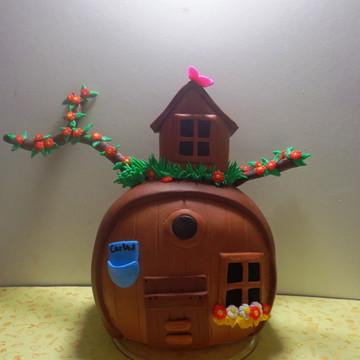 Casa do Urso em biscuit marsha e urso