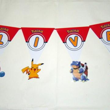 "Bandeirola ""Pokemon"""