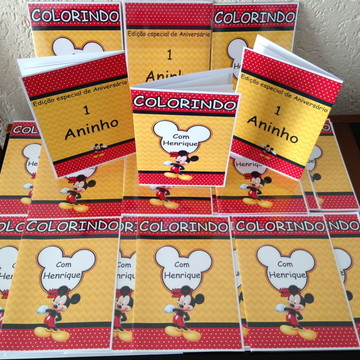 Livro de Colorir Mickey para Lembrancinha