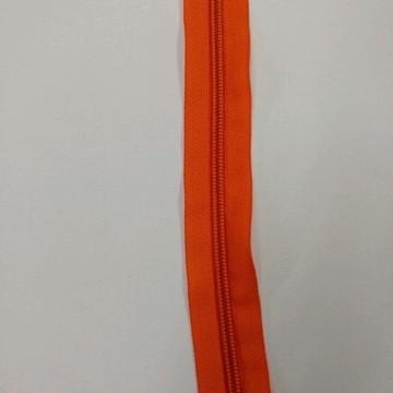 Zíper em metro laranja