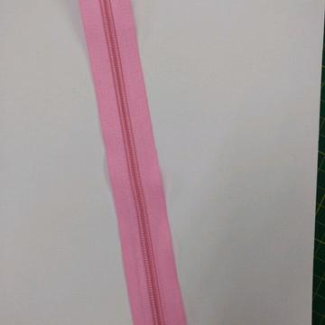Zíper em metro rosa bebê