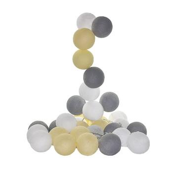 Cordão de luz 20 bolas Cores Romanticas