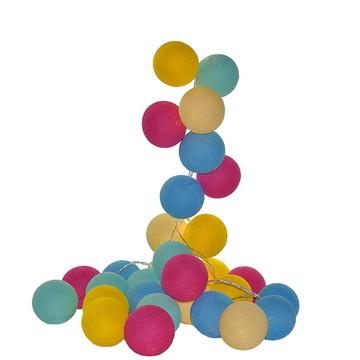 Cordão de luz 20 bolas Multicolorido