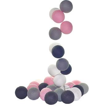Cordão de luz 20 bolas Rosa Cinza Copenh
