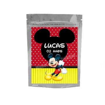 Saquinho Metalizado - Mickey