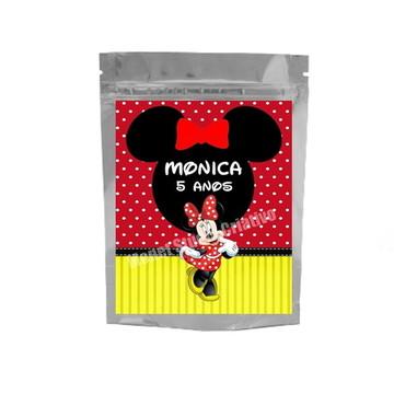 Saquinho Metalizado - Minnie