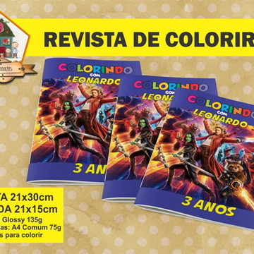 Revista Colorir GUARDIÕES DA GALAXIA