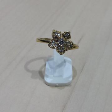 Anel de Falange Flor com Pedra