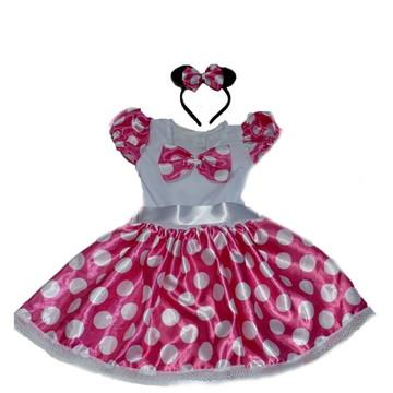 Fantasia Minnie Bebê Rosa