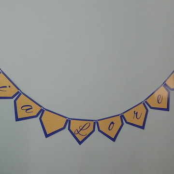 Bandeirola - Azul e Amarelo