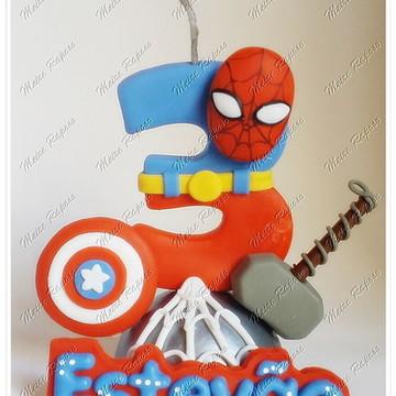 Vela Personalizada Super Heróis