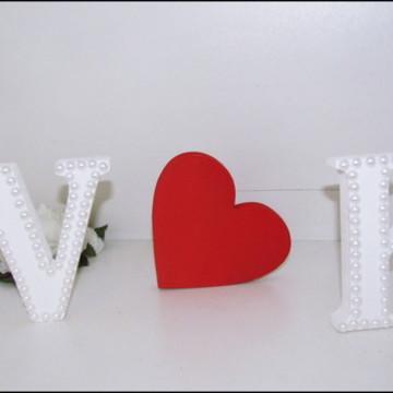 Letra em MDF para casamento