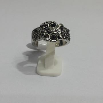 Anel Coruja com Pedras