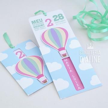 Convite Balão Menina | Festa Balões