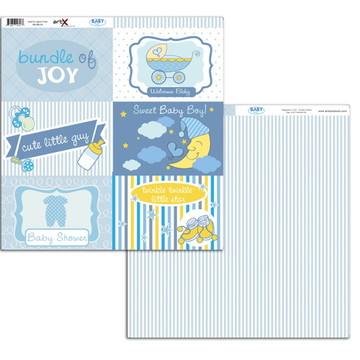 Papel Scrapbook Baby Boy 1un. #BB-05