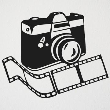 adesivo máquina Fotografo Estúdio