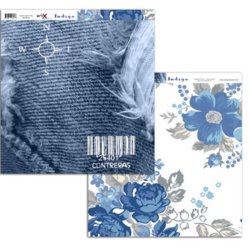 Papel Scrapbook Indigo 10 fl. #BI-010