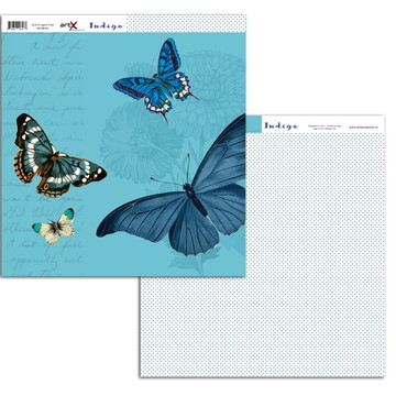 Papel Scrapbook Indigo 10 fl. #BI-12