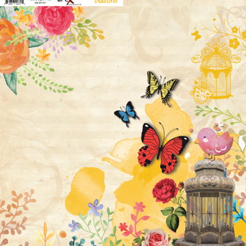 Papel Scrapbook Beautiful 1fl. #BT-01