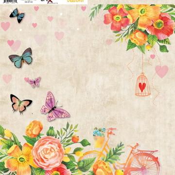 Papel Scrapbook Beautiful 1fl. #BT-02