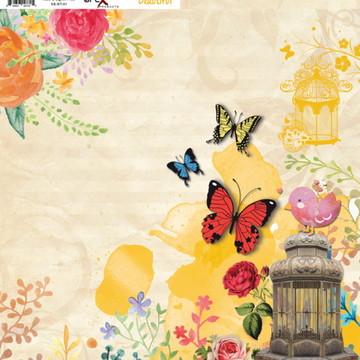 Papel Scrapbook Beautiful 10fl. #BT-01