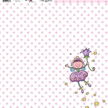 Papel Scrapbook Fairyland 1fl. #FL-04
