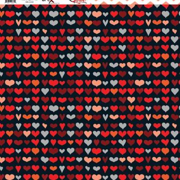Papel Scrapbook Love 1fl. #LV-02