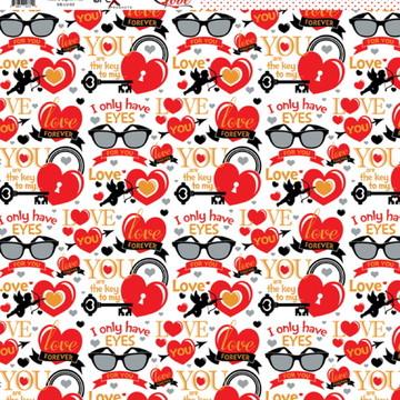 Papel Scrapbook Love 1fl. #LV-03