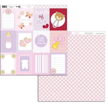 Papel Scrapbook Baby Girl 10fl. #BG-10