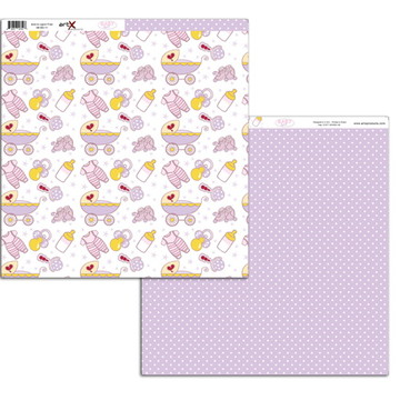 Papel Scrapbook Baby Girl 10 fl. #BG-11