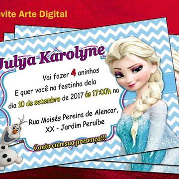 Arte digital convite Frozen